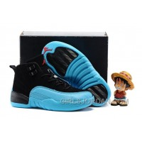 "2017 Kids Air Jordan 12 ""Gamma Blue"" Basketball Shoes Free Shipping"