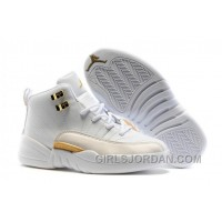 "2017 Kids Air Jordan 12 ""OVO White"" Basketball Shoes Cheap To Buy"