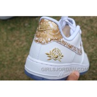 Air Force 1 Chinese New Year White Gold Peony Top Deals