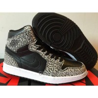 """Mens Air Jordan 1 High """"Un-Supreme"""" Black/Cement-White-Varsity Red For Sale Free Shipping"""