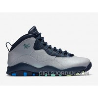 "2017 Mens Air Jordan 10 ""Rio"" Wolf Grey/Photo Blue-Obsidian-Green Glow For Sale Authentic"