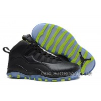 Top Deals Mens Air Jordan 10 Retro Black-Grey/Venom Green For Sale