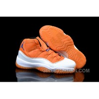 Mens Air Jordan 11 Custom White Orange For Sale Free Shipping