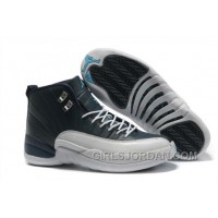 Mens Air Jordan 12 Retro Obsidian/White French Blue For Sale Discount