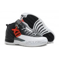 "Online Mens Air Jordan 12 Retro ""Playoffs"" Black/White-Varsity Red For Sale"