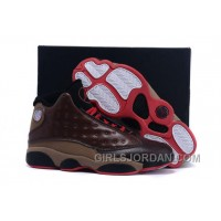 Mens Air Jordan 13 Cigar Custom By Damien Brown Black Red For Sale Top Deals