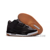 2017 Mens Air Jordan 3 Black Brown White Shoes For Sale Christmas Deals