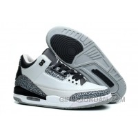 Mens Air Jordan 3 Wolf Grey/Metallic Silver-Black-White For Sale Cheap To Buy
