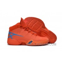 Mens Air Jordan 30 XXX Playoffs Orange Blue PE Cheap To Buy