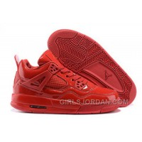 "Mens Air Jordan 4 11Lab4 ""Red Patent Leather"" Free Shipping"