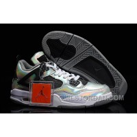 "Mens Air Jordan 4 ""Prism"" Metallic Silver/Black-White For Sale Online"