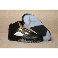 2017 Mens Air Jordan 5 Olympic Black/Metallic Gold For Sale Cheap To Buy