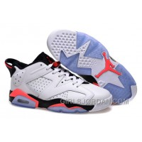 Mens Air Jordan 6 Low White/Infrared 23-Black For Sale Discount