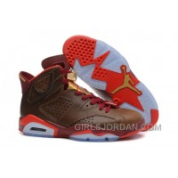 "Mens Air Jordan 6 Retro ""Championship Cigar"" Top Deals"