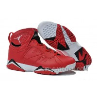 Mens Air Jordan 7 Red Black White Shoes For Sale Free Shipping