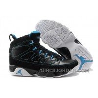 Mens Air Jordan 9 Black/Photo Blue-White Super Deals