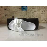 Puma X Fenty Bandana Slide ButterFly White Women Sandals Free Shipping