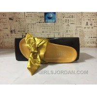 Puma X Fenty Bandana Slide ButterFly Yellow Women Sandals Lastest