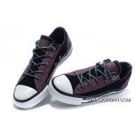 Leather CONVERSE All Star Purple Black Tonal Stitching Tops Trainer Free Shipping