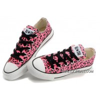 CONVERSE Leopard Womens All Star Shoes Red Black Print Chuck Taylor Tops Canvas For Grils Discount