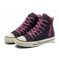 Purple CONVERSE Leopard Zipper Chuck Taylor All Star High Tops Women Canvas Shoes Free Shipping