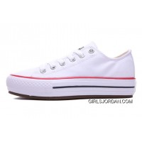 White CONVERSE All Star Platform Chuck Taylor Women Shoes Low For Sale