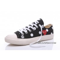 Black CONVERSE Comme Des Garcons Polka Dot Play Chuck Taylor Low Lastest