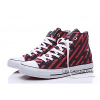 CONVERSE Chuck Taylor All Star Geometry Print Black Red High New Release