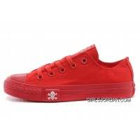 CONVERSE All Red All Star Skull Canvas Chuck Taylor Sneakers Best