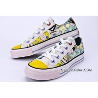 CONVERSE Comics Pattern Printed Multi Colored Silk Road Tops Chuck Taylor All Star Canvas Shoes Discount
