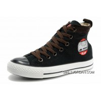 Cool CONVERSE Black High Tops Embroidery Chucks All Star Canvas Brown Suede Easy Slip Free Shipping