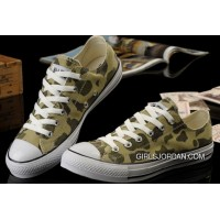 Summer CONVERSE Nicolas Cage Soul Camouflage Army Olive Green All Star Chucks Tops Canvas Sneakers Copuon Code