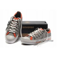 Grey Orange CONVERSE Double Upper Tongue All Star Chuck Taylor Tops Canvas Casual Shoes Lastest