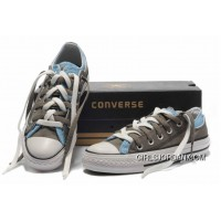 CONVERSE Double Upper Doule Tongue All Star Grey Blue Tops Canvas Casual Shoes Discount