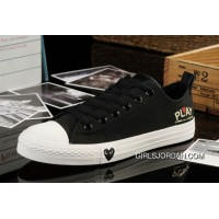 Black CONVERSE All Star Light Comme Des Garcons Play Tops Canvas Shoes Free Shipping