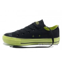 Dazzle Colour CONVERSE All Star Light Black Green Ps Casual Canvas Sneakers Cheap To Buy
