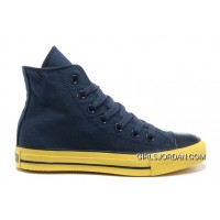 Korea Edition Navy CONVERSE High S CT AS Specialty Foxing OX Yellow Sole Canvas Shoes Top Deals