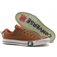 Undefeated CONVERSE All Star Tops Khaki Canvas Clear Rubber Soles Free Shipping