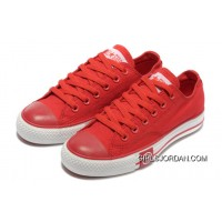 Red CONVERSE Tops Lightning Chuck Taylor All Star Canvas Shoes Best