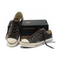 Brown Leather CONVERSE All Star Overseas Edition Tops Shoes Authentic