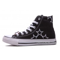 Black High Tops CONVERSE Star Embroidery CT All Star Canvas Shoes Super Deals
