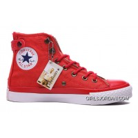 Red CONVERSE Double Zip Lover Chuck Taylor All Star High S Canvas Top Deals