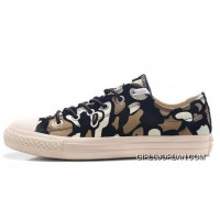 CONVERSE Camouflage Suede Chuck Taylor All Star Sneakers Black White Brown New Style