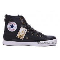 Black CONVERSE Chuck Taylor All Star Double Zip High Tops Canvas Online