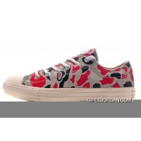 All Star CONVERSE Suede Camouflage Grey Red Chuck Taylor Sneakers Copuon Code