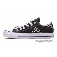 Black CONVERSE Star Embroidery Chuck Taylor All Star Canvas Shoes Authentic