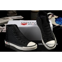 Ultimate Edition Black CONVERSE Comme Des Garcons Play Chuck Tayloar All Star High Tops Canvas Sneakers Authentic