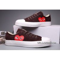 Brown CONVERSE Comme Des Garcons Suede Chuck Taylor All Star Low Free Shipping