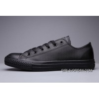 Classic All Star All Black CONVERSE Chuck Taylor All Star Leather Low Discount