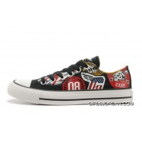 Black CONVERSE American Retro Pattern Printing Tops Chuck Taylor All Star Canvas Sneakers Online